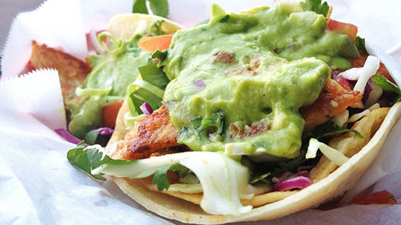 "Grilled fish tacos ""Nick's Way"" at Nick's Crispy Tacos"