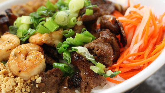 Bún tôm thịt nướng at Pho Kim Long II
