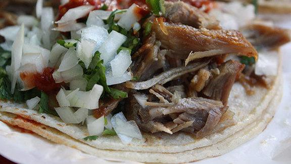 Tacos de carnitas at Taco Loco