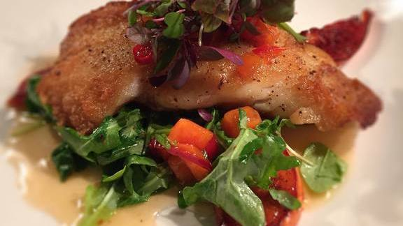 Grouper with persimmons at Kevin Rathbun Steak