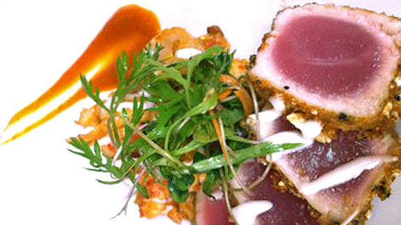 Cracklin' crusted yellowfin tuna at SoBou