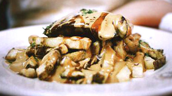 Chef Normand Laprise reviews Boudin poutine at