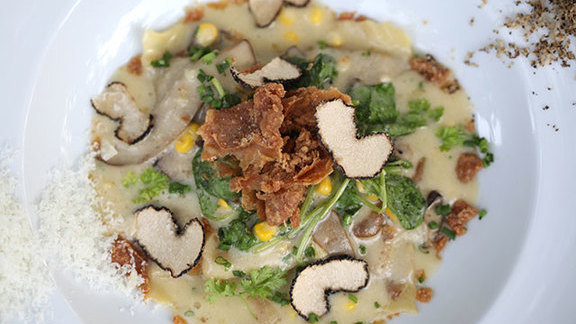 Chef Paul Fehribach reviews Fava bean agnolotti at Longman & Eagle