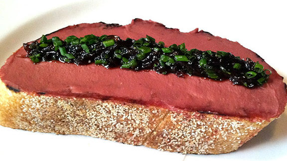 Chicken liver toast at Animal