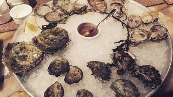 Chef Jason Ryczek reviews Kumamoto, Damariscotta and Belones oyster varieties at Farallon
