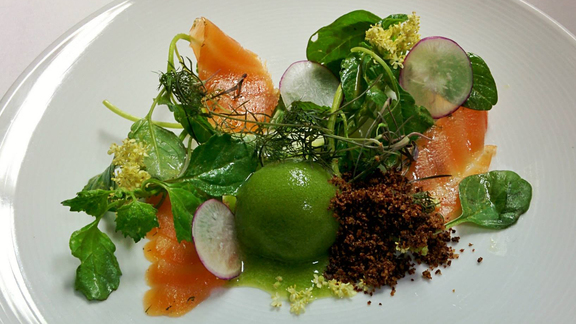 Chef Lena Kwak reviews House-cured gravlax at