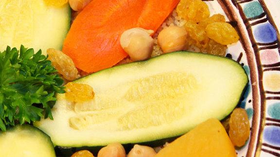Couscous légumes at Menthe et Couscous