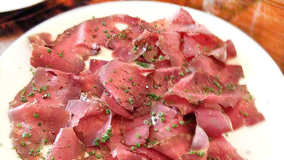 Beef heart pastrami at Coppa