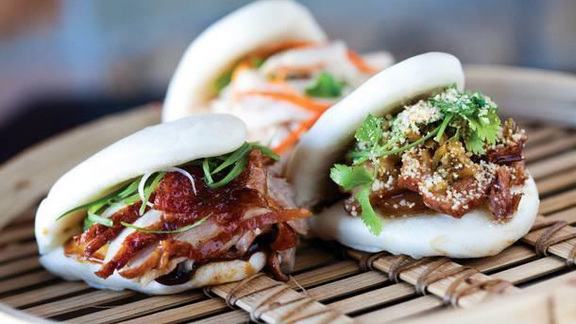 Chef Bruce Bromberg reviews Pork belly bao at Fat Choy