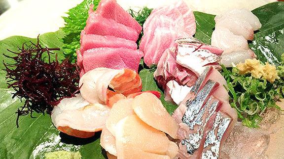 Sashimi at Hasaki