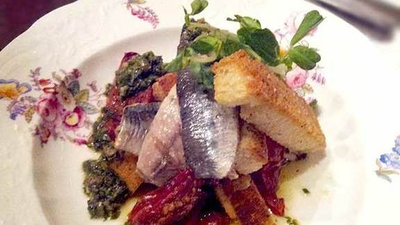 Chef Michael Caballo reviews Grilled sardines on toast at