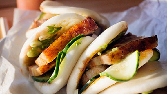 Pork buns at Momofuku Noodle Bar