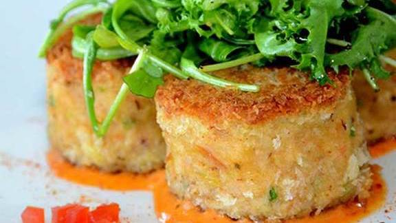 Crab cakes at Diana's Oyster Bar & Grill