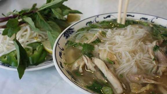 Chicken phở at Mi Mi Restaurant