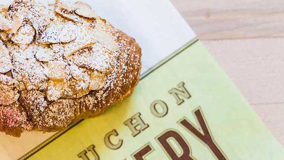 Almond croissant at Bouchon Bakery
