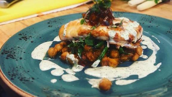 Chef Cindy Hutson reviews Huevos rancheros, ceviche and eggs benedict  at zestmrkt pop-up