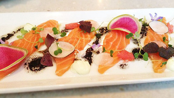 House smoked salmon at Quatrefoil Restaurant