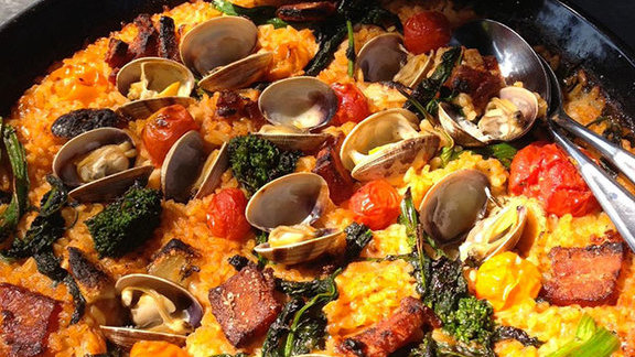 Paella at Bravas