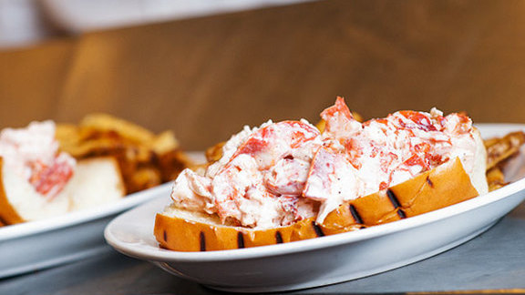Maine lobster roll at Neptune Oyster