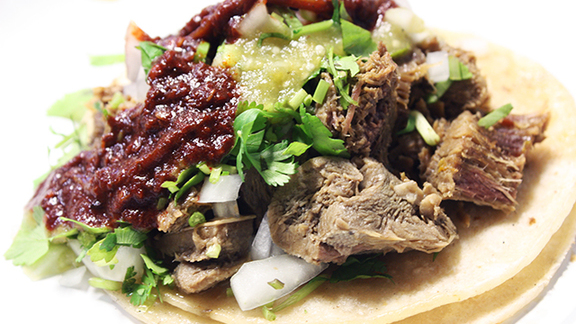 Tacos de lengua at Tacos El Gordo