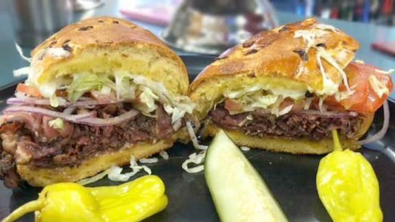 Harpoon sandwich at Chris' Liquor & Deli