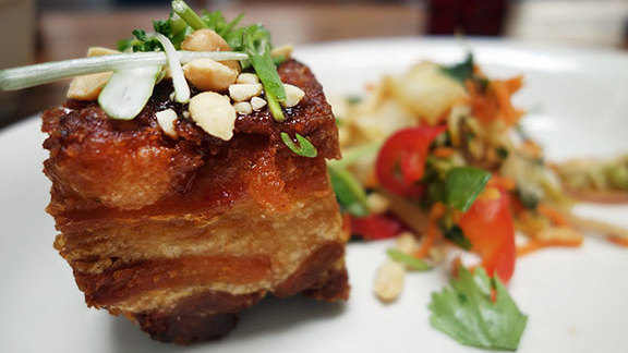 Crispy sweet and spicy pork belly at Michael's Genuine Food & Drink