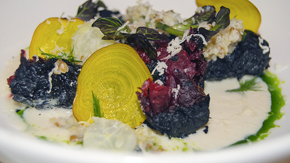 Chef Ed Brown reviews Rotisserie-crisped beets at