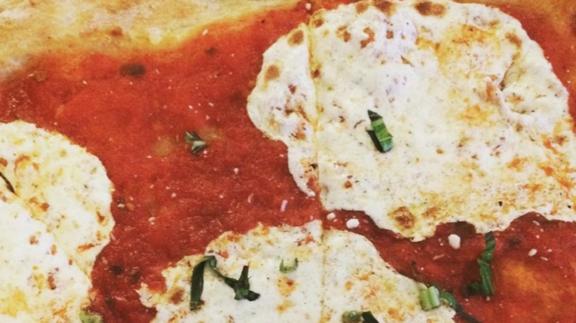 Coal oven pizza at Lombardi's Coal Oven Pizza