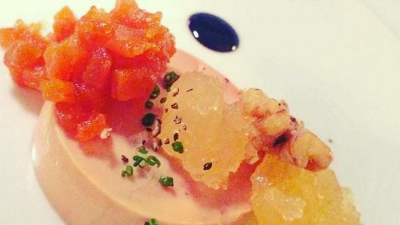 Foie gras au torchon at Viviane