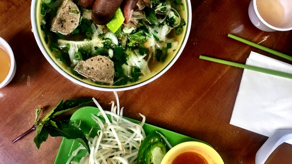 Pho Beef Noodle Soup at Pho Cyclo Cafe