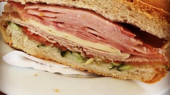Cuban sandwich with lots of ham at Cuba Libre Restaurant & Rum Bar