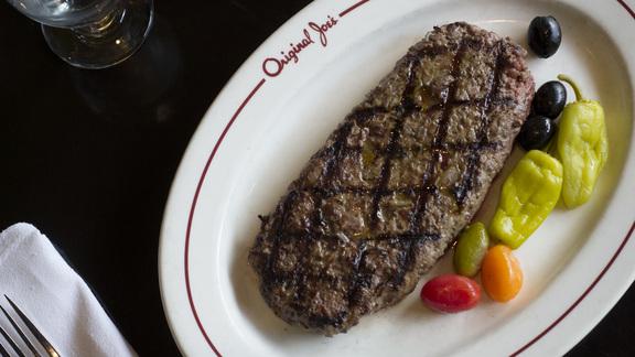Hamburger steak at Original Joe's