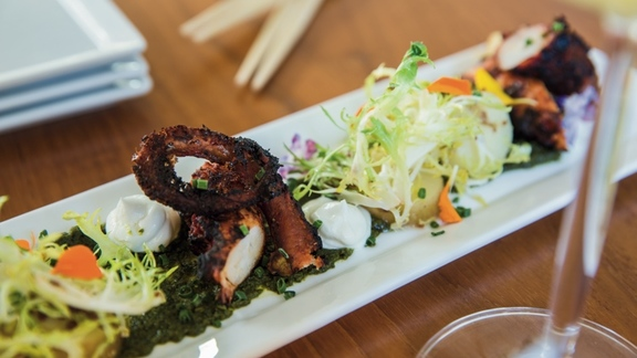 Grilled Tako Octopus at The Banyan Tree Restaurant