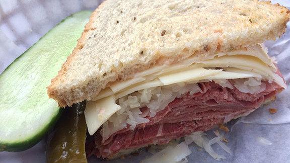 Beef tongue sandwich at Stein's Market & Deli
