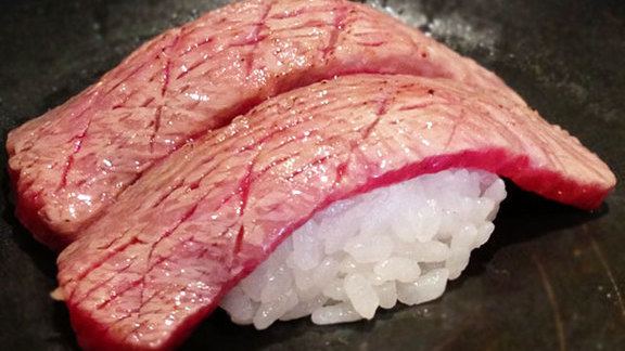 Chef Jennifer Jasinski reviews Super marbled Japanese Wagyu beef at Sushi Sasa