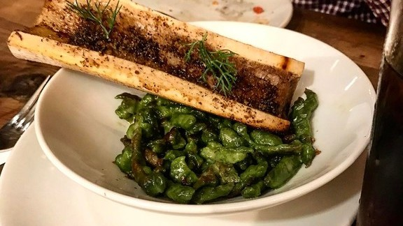 Bone marrow and spinach gnocchetti at Bestia