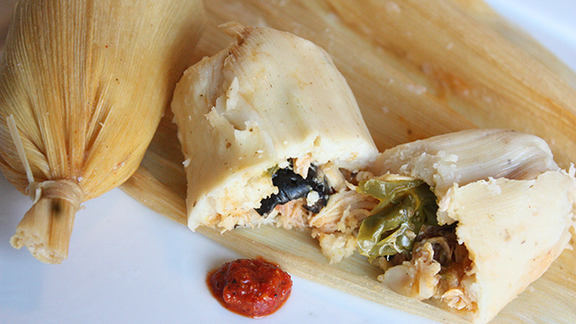 Chicken tamales at Sutter Cafe