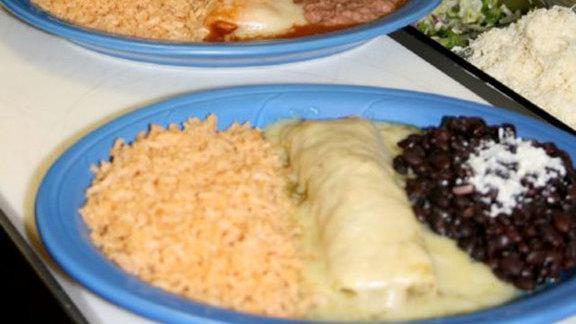 Pollo asado burrito at Villa Corona Cocina Mexicana