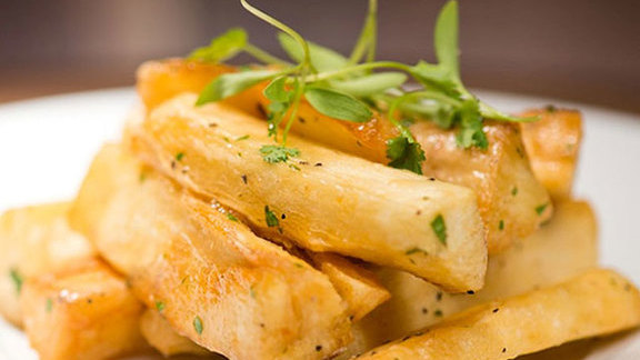 Yuca fries at Toro Toro