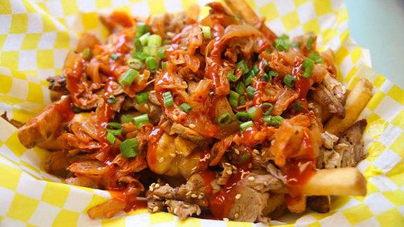 Kimchi fries at saigon slims