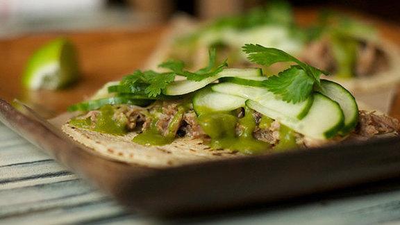 Pork tacos at Tico