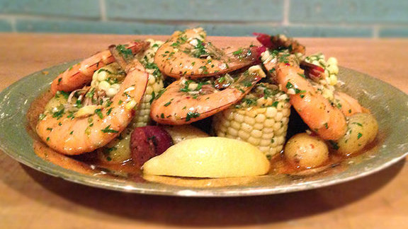 NOLA-style shrimp boil at The Hart + The Hunter