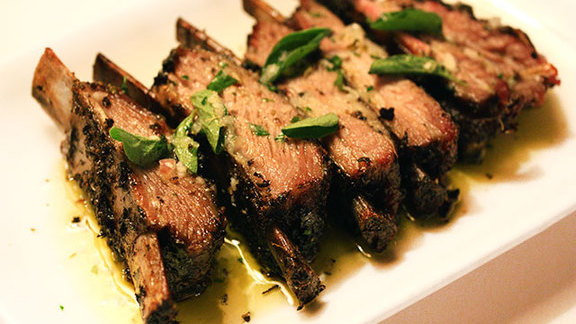 Grilled lamb riblets at Kokkari Estiatorio