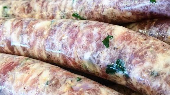 Rabbit sausages at The Butcher & Larder
