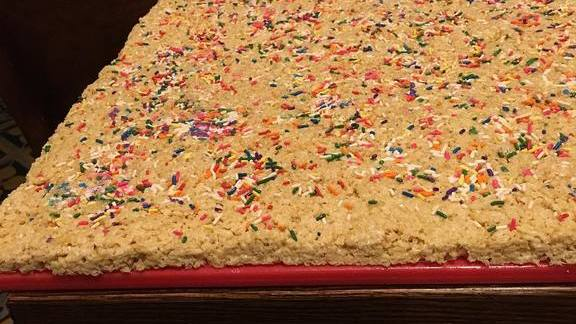 Rice Krispies treat at Emmy Squared