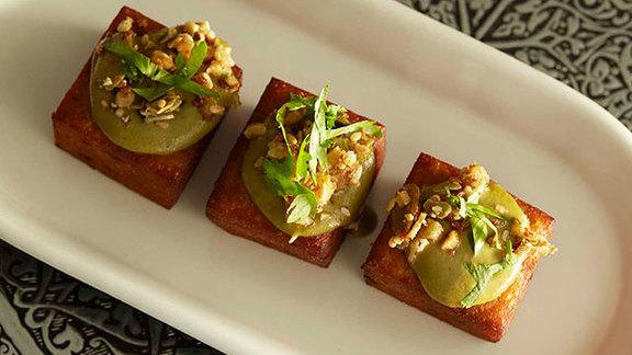Chef Barbara Lynch reviews Pumpkin fritters at