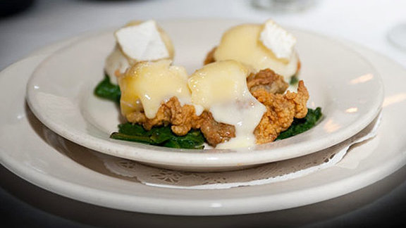 Fried oysters w/ brie at Clancy's