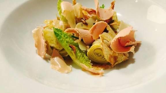 """""""L' Artichaut,"""" artichoke, foie gras at Michael Mina"""