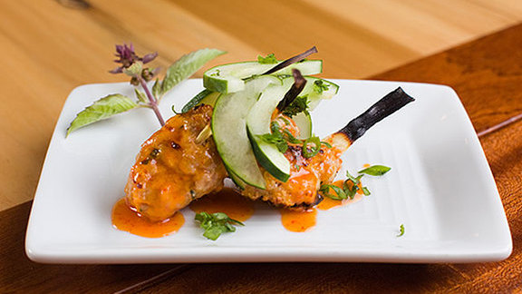 Thai shrimp & pork meatballs at Mondo