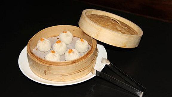 Soup dumplings at Dumpling Cafe
